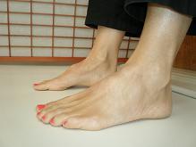 Karen feet sitting