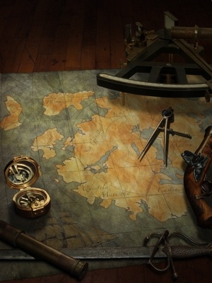 Map with tools