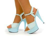 White Strapped Platforms