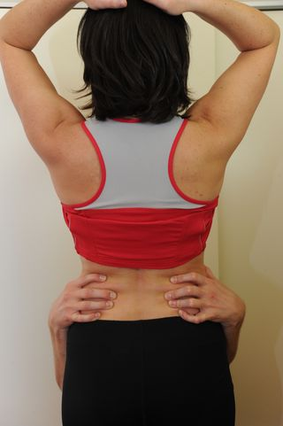 Deepest layer of abdominal muscle - transversus abdominis muscle starts from the backside off the lumbar vertebrae