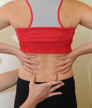 Finding the transversus abdominis support for the lumbar spine - low back pain relief