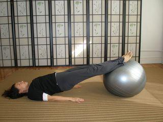 Backside leg extension - postural support - heel leverage for tethering hamstrings