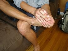 Releasing tight ankle tendons - letting go of tension in the top and front of the foot - accessing the support of the backside heel