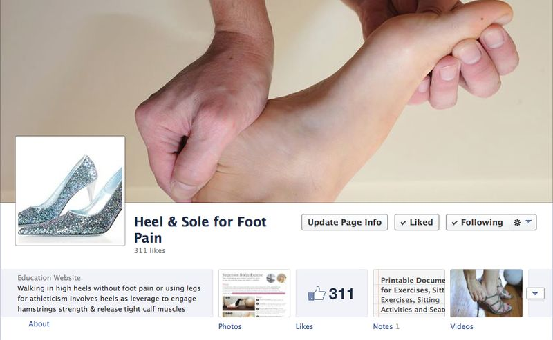 Facebook page heel and sole for foot pain