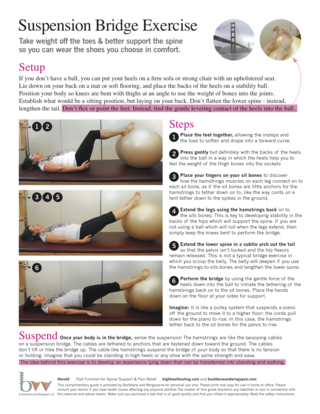 Spine support for foot pain and posture - bridging exercise for hamstrings strength