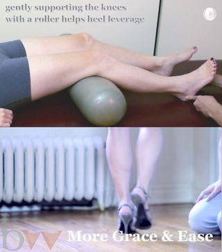 Heel rocks - high heels walk with leverage - collage snapshots