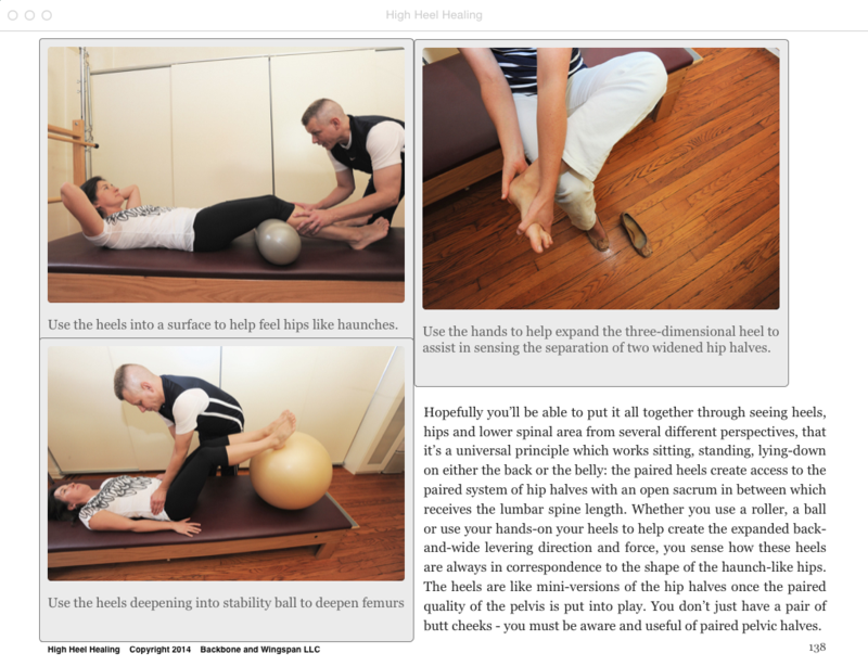 Foot alignment - stability ball - roller - High Heel Healing - heel to hip relationship
