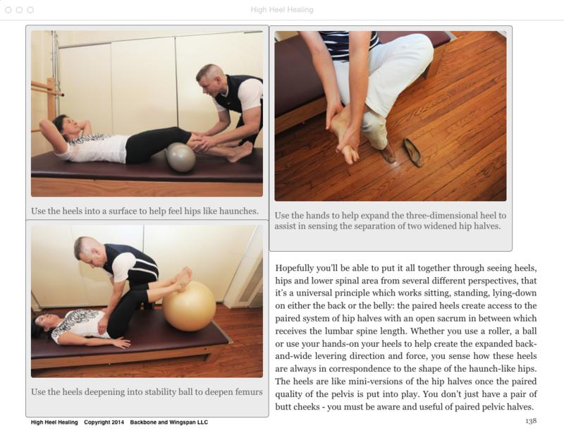 Foot alignment - stability ball - roller - High Heel Healing - heel to hip relationship