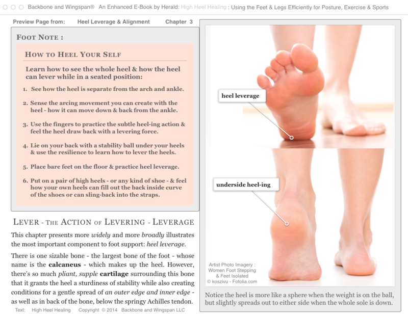 Levering the heel - heel leverage - High Heel Healing - Author Herald