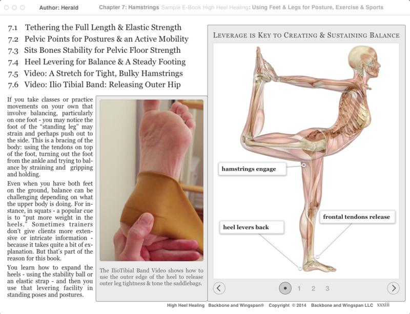 Balance - heel levering - hamstrings - High Heel Healing - Author - Herald