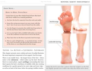 High Heel Healing - Levering the Heel